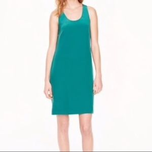 J Crew Silk Green Dress